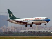 B-5025 @ ZGSZ - Boeing 737-7BX [30741] (Shenzhen Airlines) Shenzhen-Baoan~B 22/10/2006 - by Ray Barber