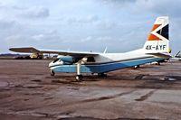 4X-AYF @ EGLK - Britten-Norman BN-2A Islander [0101] (Kanaf-Arika Ltd) Blackbushe~G 08/03/1977 - by Ray Barber