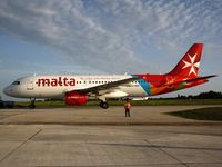 9H-AEN - New branding and colors for Airmalta. First A320 Aircraft arrived at 4.15pm and gave an air display prior to landing during the Malta International Airshow 2012 before operating first commercial flight to St Petersburg. - by Ray B Pace