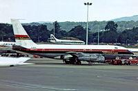 G-AVZZ @ EGKK - Boeing 707-138B [17699] (International Caribbean) Gatwick~G 01/07/1974. Taken from a slide.