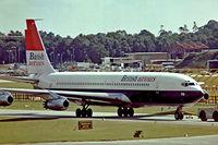 G-APFD @ EGKK - Boeing 707-436 [17705] (British Airtours) Gatwick~G 01/07/1974. Taken from a slide.