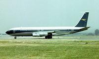 G-AXGX @ EGLL - Boeing 707-336C [20375] (British Airways) Heathrow~G 01/07/1975. Taken from a slide.
