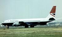 G-ASZF @ EGLL - Boeing 707-336C [18924] (British Airways) Heathrow~G 01/07/1975. Taken from a slide.