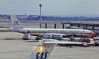 CS-TBF @ EGLL - Boeing 707-382B [20297] (TAP Air Portugal) Heathrow~G 1976. Taken from a slide.