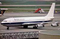G-APFL @ EGKK - Boeing 707-436 [17713] (British Airtours) Gatwick~G 05/04/1977. Taken from a slide.