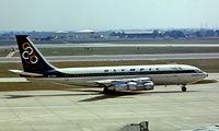 SX-DBM @ EGLL - Boeing 720-051B [18687] (Olympic Airways) Heathrow~G 01/07/1977. Taken from a slide.