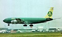 OD-AFX @ EGLL - Boeing 707-327C [19107] (TMA) Heathrow~G 01/07/1977. Taken from a slide.