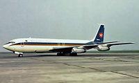 S2-ACA @ EBOS - Boeing 707-351C [19434] (Biman Bangladesh) Oostende~OO 14/08/1977. Image taken from a slide.