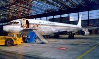 N707ZS @ EDDF - Boeing 707-309C [20261] (Jet Cargo) Frankfurt~D 04/10/1986. Image taken from a slide.