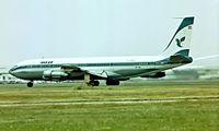 EP-IRL @ EGLL - Boeing 707-386C [20287] (Iran Air) Heathrow~G   1975. Image taken from a slide.