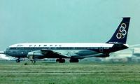 SX-DBP @ EGLL - Boeing 707-351C [19163] (Olympic Airways) Heathrow~G 01/07/1977. Image taken from a slide.