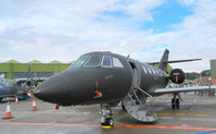 053 @ EGQL - 717sqn Falcon 20 in The static display at Leuchars airshow 2011 - by Mike stanners