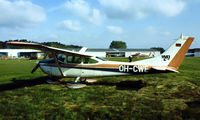 OH-CWE @ EDFE - Cessna 182H Skylane [182-56418] Eglesbach~D 02/05/1981. Although this was not officially registered until 1982 temporary makings were placed over the *D-EK* notice the black backing to those letters.