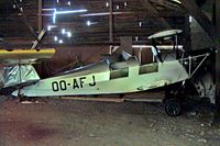 OO-AFJ @ EBTX - SNCAN Stampe SV.4C [197] Theux-Verviers~OO 15/08/2002. Dismantled and stored here.