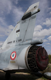 520 - the 520's tail, note the unusual view on the snecma reactor. Musée aéronautique d'Orange, France - by olivier Cortot
