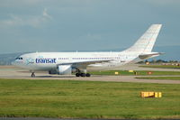 C-GLAT @ EGCC - Air Transat C-GLAT taxiing at Manchester Airport - by David Burrell