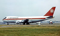 CF-TOB @ EGLL - Boeing 747-133 [20014] (Air Canada) Heathrow~G 01/07/1975. Image taken from a slide. - by Ray Barber