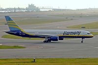 C-GMYE @ RJBB - Boeing 757-28A [32449] (Harmony Airways) Osaka-Kansai~JA 03/11/2005 - by Ray Barber