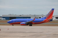 N757LV @ KBDL - Southwest 737-700 flight 313 taxiing to runway 6 for a flight to Baltimore/Washington Int'l. - by Mark K.