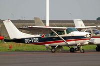 OO-VDB @ EBAW - Cessna 210MF Centurion [210-58726] Antwerp - Deurne~OO 11/08/2010. Noted minus prop.