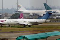 PK-MGH @ WIII - Fokker F-28-4000 Fellowship [11171] (Merpati Nusantara) Jakarta - Soekarno Hatta International~PK 26/10/2006. Stored pending scrapping.