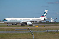 B-HLT @ YBNN - A330-343X [439] (Cathay Pacific Airways) Brisbane-International~VH 18/03/2007 - by Ray Barber