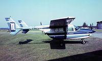 OY-CBB @ EKBI - Cessna T.337D Super Skymaster [337-1000] Billund~OY 04/06/1982. Image taken from a slide.
