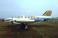 I-ATAC @ EHAM - Cessna 421B Golden Eagle [421B-0121] Schiphol~PH 29/08/1976. Image taken from a slide.