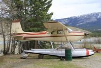 C-FJIU @ CEZ5 - In winter storage at Schwatka Lake in Whitehorse, Yukon. - by Murray Lundberg