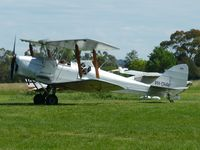 VH-DHR @ YLIL - Tiger Moth VH-DHR taxying in after performing some aerobatics over Lilydale airfield.