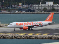 G-EZAW @ LXGB - easyJet Airbus A319 about to depart from Gibraltar. - by Jonathan Allen