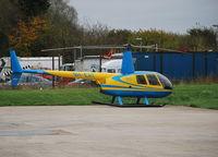 9H-EAT @ EGTB - Robinson R44 Clipper II at Wycombe Air Park. Ex SX-HTC - by moxy