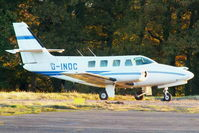 G-INDC @ EGBM - parked on the far side of the airfield minus both its engines - by Chris Hall