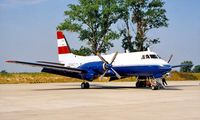 OE-BAZ @ LOWW - Grumman G-159 Gulfstream I [23] (Austrian CAA) Vienna-Schwechat~OE 20/06/1996