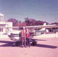 N2430U @ I74 - Grandpa Simmermon and me at Urbana in 1975