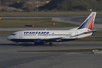 VP-BYT @ LOWW - Transaero Boeing 737 - by Thomas Ranner