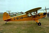 G-BCUB @ EGTC - Piper J-3C-65 Cub [13370] Cranfield~G 08/09/1979. Construction number 13186  relates to G-BDOL . Airframes switched during conversions in the UK. Image taken from a slide. - by Ray Barber