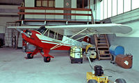 HB-OXY @ LSZB - Piper J-3C-100 Cub [12223] Bern-Belp~HB 08/08/1981. Image taken from a slide. - by Ray Barber