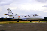 G-CBTU @ EGTF - Cessna 550 Citation II [550-0601] Fairoaks~G 23/08/2003