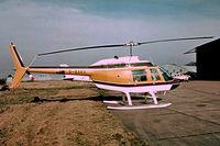 G-BAKX @ EGKB - Bell 206B Jet Ranger II [906] Biggin Hill~G 17/05/1975. Image taken from a slide.