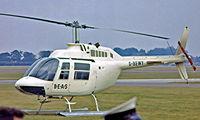 G-BEWY @ EGVI - Bell 206B Jet Ranger II [348] RAF Greenham Common~G 26/06/1977. Image taken from a slide.