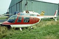 F-BVPV @ EBGB - Agust-Bell AB.206A Jet Ranger [8077] Grimbergen~OO 13/08/1977. Image taken from a slide.
