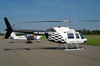 OO-ACR @ EBZW - Agusta-Bell AB.206A Jet Ranger [8177] Zwartberg~OO 16/08/2002.
