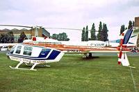 G-HEAT @ EGTC - Bell 206B-3 Jet Ranger [2745] Cranfield~G  08/09/1979. Image taken from a slide.