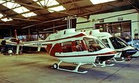F-BXPE @ LFPN - Bell 206L-1 Long Ranger II [45236] Cranfield~G 08/09/1979. Image taken from a slide.