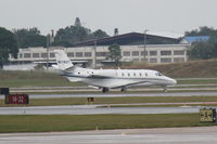 N118ST @ KSRQ - Cessna Citation Excel (N118ST) arrives at Sarasota-Bradenton International Airport - by jwdonten
