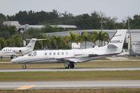 N100RJ @ KSRQ - Cessna Citation Bravo (N100RJ) departs Sarasota-Bradenton International Airport enroute to Lake Charles Regional Airport - by jwdonten