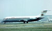 EC-BIR @ EGLL - McDonnell Douglas DC-9-32 [47093] (Iberia) Heathrow~G 1975. Image taken from a slide. seen departing
