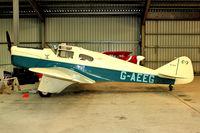 G-AEEG @ EGBG - 1936 Miles M-3A Falcon Major, c/n: 216 at Leicester - by Terry Fletcher