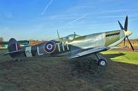 PL256 @ EGBG - Supermarine 361 Spitfire IX (replica